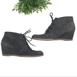 FRANCO SARTO Annabelle Suede Ankle Wedge Booties